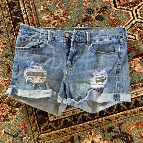 Old Navy Pants - Mid-Rise Distressed Denim Jean Shorts